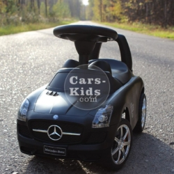 Толокар Mercedes SLS черный (музыка, гудок, бардачок)